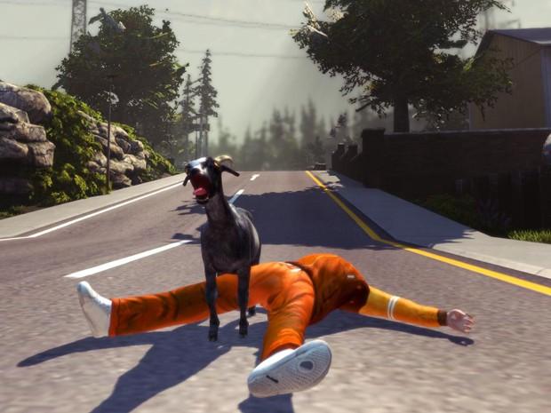 Game 'Goat Simulator' nasceu como piada, mas fez sucesso na internet (Foto: Divulgação)
