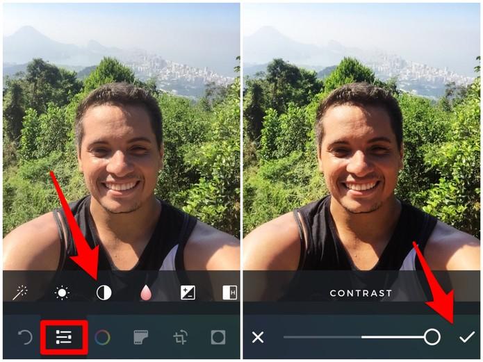 a2Edite as configurações da sua imagem no Afterlight (Foto: Reprodução/Lucas Mendes)