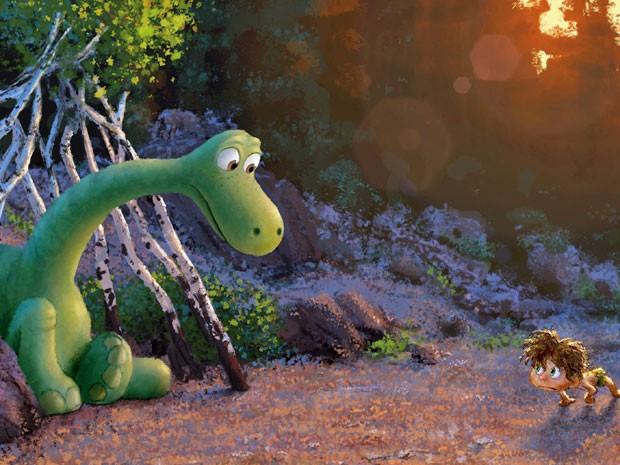 Cena da animação da Pixar 'O bom dinossauro' (Foto: Divulgação)