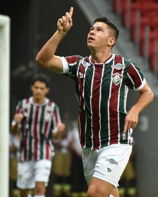 Osvaldo, Fluminense x Inter Primeira Liga 2016 (Foto: Agência Estado)