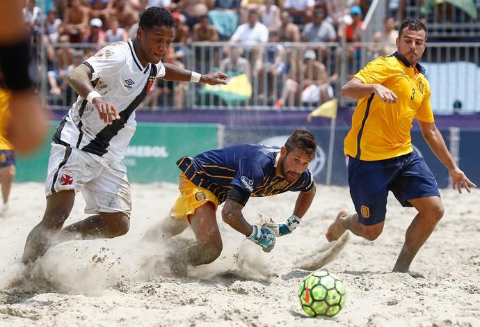 futebol de areia Vasco Libertadores (Foto: Marcello Zambrana/DGW)