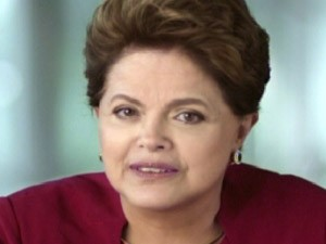 A presidente DIlma Rousseff durante o pronunciamento do Dia das Mes (Foto: Reproduo / TV Globo)