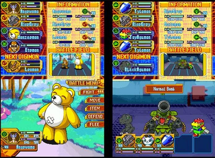 Digimon World DS foi um RPG mais simples (Foto: Divulgação)