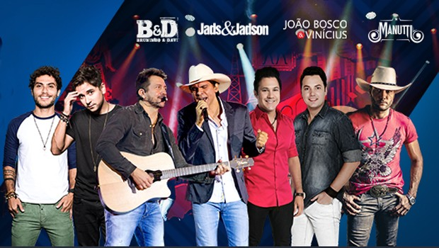 Entre as atrações: Jads &Jadson, Bruninho & Davi, João Bosco & Vinicius e Manutti (Foto: Divulgação)