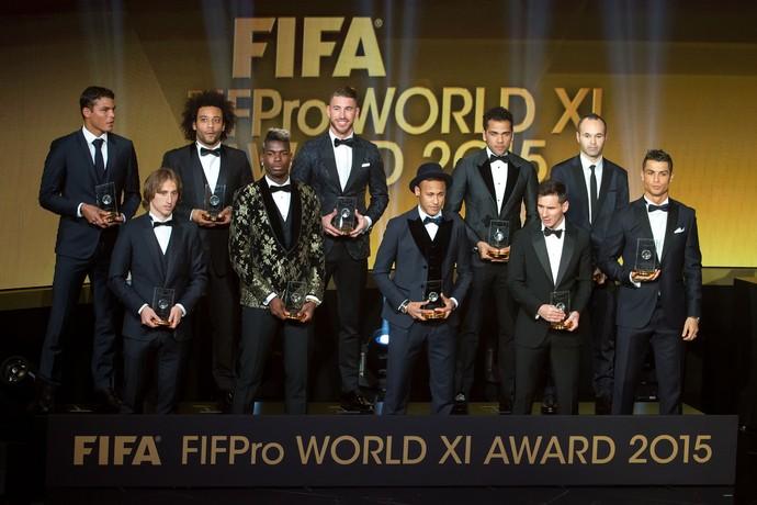 Seleção da Fifa 2015 (Foto: Philipp Schmidli/Getty Images)