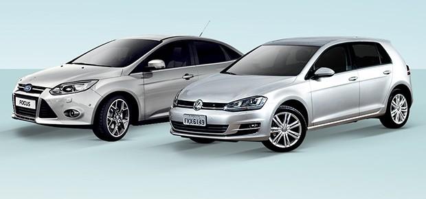 Ford Focus ou VW Golf: qual comprar? (Foto: Autoesporte)