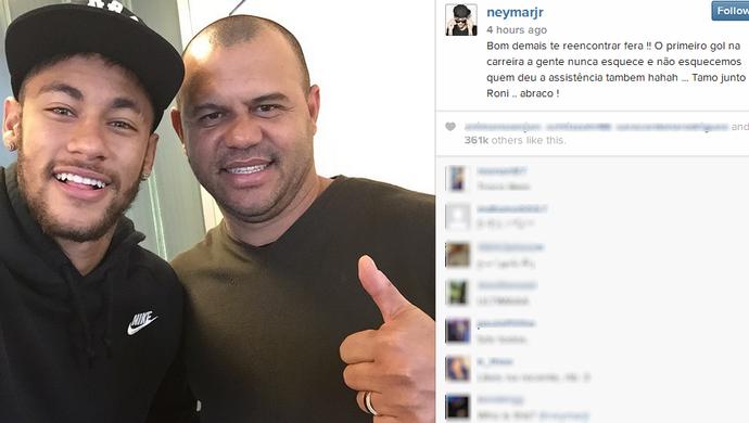 Neymar e Roni (Foto: Reprodução / Instagram)