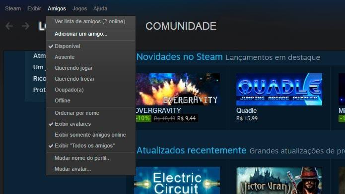 Confira como adicionar amigos no seu perfil do Steam (Foto: Reprodução/Tais Carvalho)