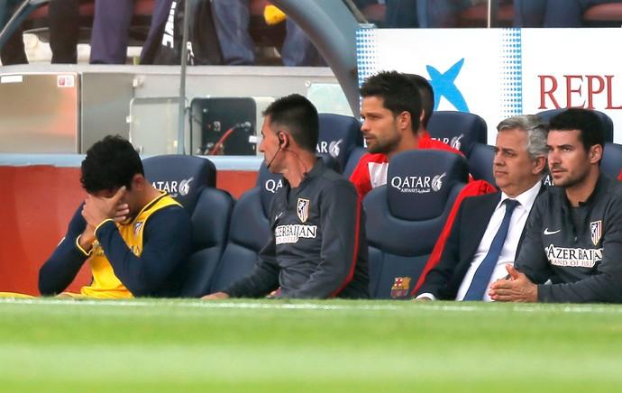 Diego Costa Atlético de Madrid e Barcelona (Foto: Agência AP )
