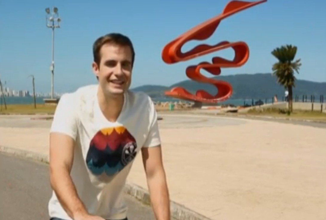 Max Fercondini em Santos, SP (Foto: Reprodução/TV Globo)