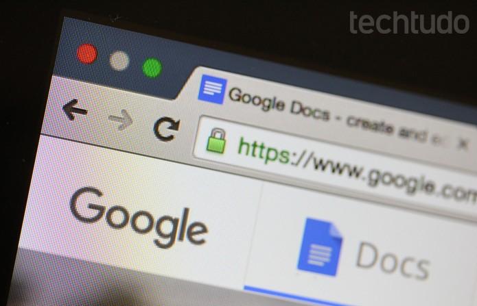 Google_Docs_Tela (Foto: Melissa Cruz / TechTudo)