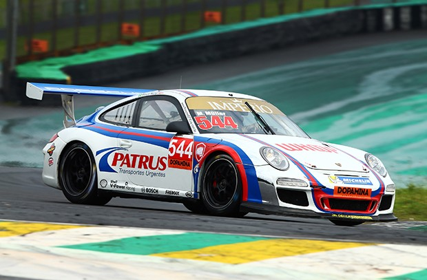 Marçal Müller precisou de oito voltas pra marcar a pole na classse Challenge (Foto: Divulgação/Luca Bassani/Porsche Império GT3)