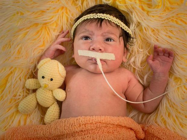 Luísa nasceu em fevereiro após mal súbito da mãe, que morreu no parto (Foto: Marcus Bordado/Divulgação)