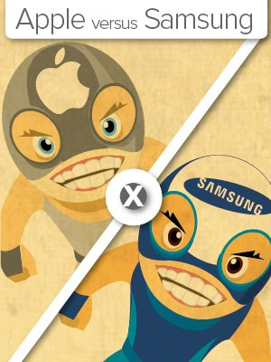Selo Apple vs. Samsung (Foto: Arte G1)