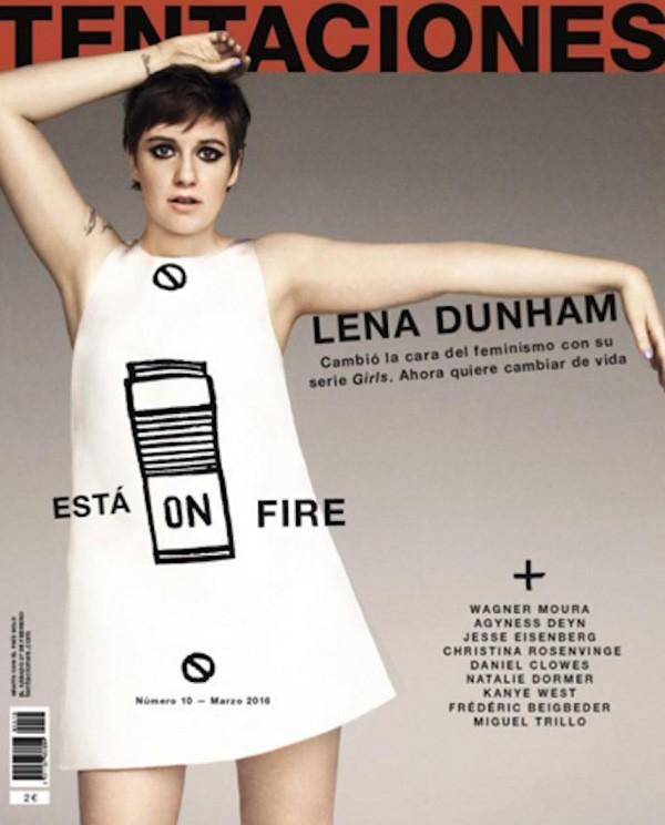 Lena Dunham na capa da revista Tentaciones (Foto: Divulgação)