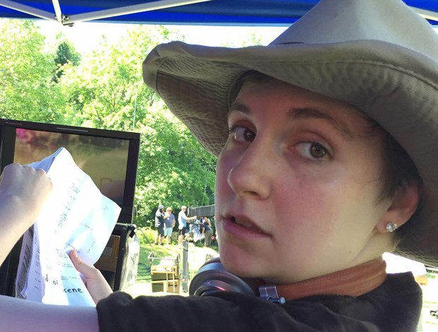 Lena Dunham sem maquiagem (Foto: Reprodução)