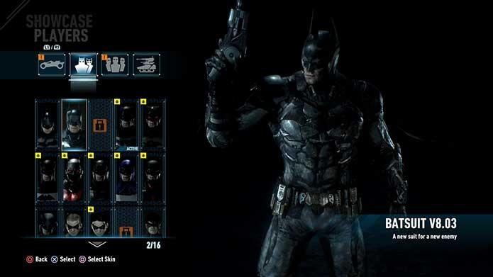 O traje do game Arkham Knight (Foto: Reprodução/Felipe Vinha)