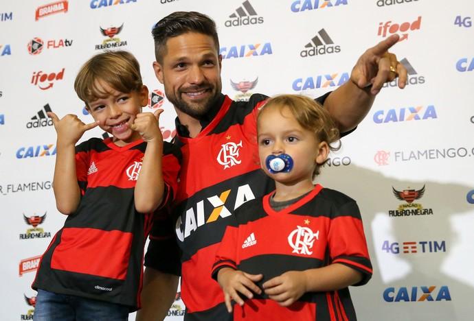 Diego apresentação Flamengo (Foto: Agência Estado)