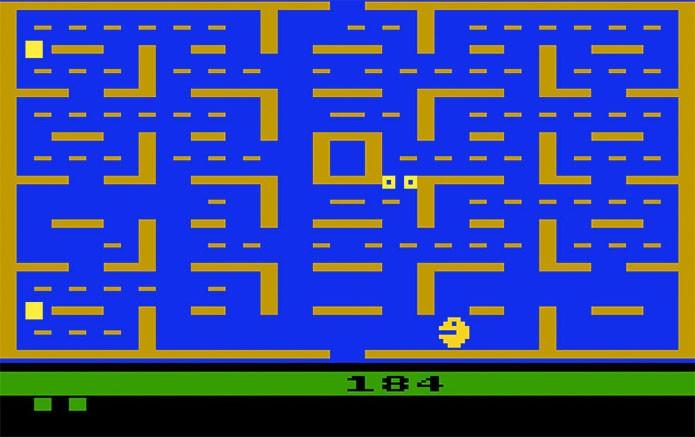 O viciante e clássico Pac-Man no Atari (Foto: Reprodução/Atari Archives)