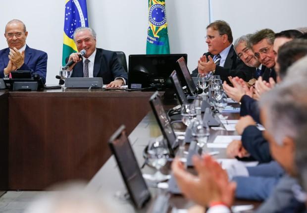 Presidente Temer se reúne com líderes da base aliada da Câmara dos Deputados (Foto: Marcos Corrêa / PR)