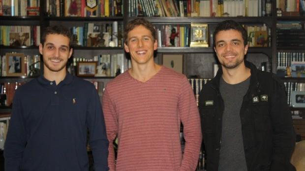 Gustavo Lembert, Arthur Dambros e Tomás Susin são os sócios (Foto: Arquivo pessoal)