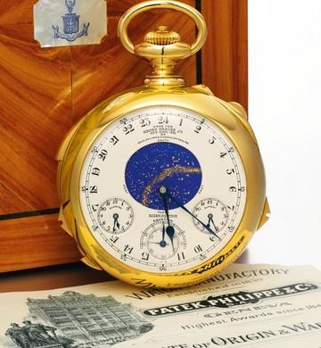 d6021273d5c Relógio histórico vai a leilão e pode ser vendido por R  42 milhões. Modelo Patek  Philippe ...