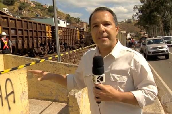 Augusto Medeiros mostrou flagrantes de acidentes em linhas de trem em MG (Foto: Divulgação)