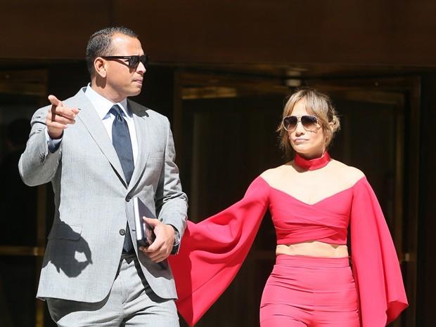 Alex Rodriguez e Jennifer Lopez (Foto: AKM GSI / AKM GSI Brasil)