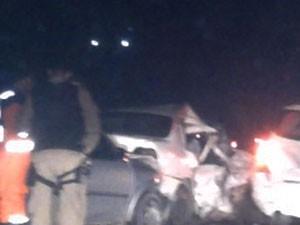 acidente envolvendo tres carros deixa 1 pessoa morta (Foto: Danutta Rodrigues / G1)