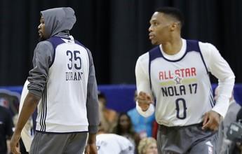 All-Star Game tem tensão entre Durant e Westbrook, e holofotes em LeBron