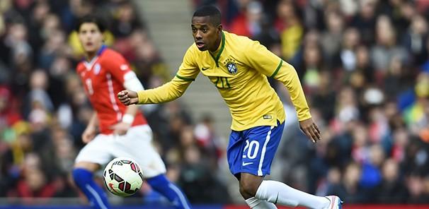 Robinho deve ser titular no jogo contra a Venezuela (Foto: Reuters/reprodução Globoesporte.com)