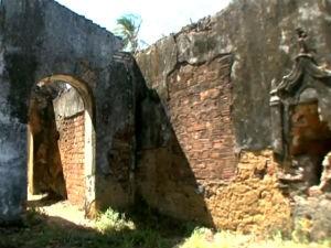 Prédios históricos em ruínas no interior de Alagoas  (Foto: Reprodução/TV Gazeta)