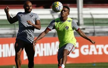 Wellington Silva ainda sente dores, e Jonathan volta a treinar com bola