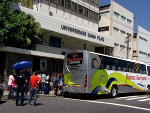 Universidade Gama Filho/GNews (Foto: Reprodução GloboNews)