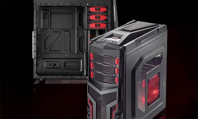 Gabinete gamer oferece luz LED e design arrojado; veja os modelos à venda no Brasil (Foto: Divulgação/Multilaser)