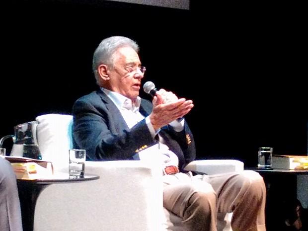Fernando Henrique Cardoso participa de lançamento de livro em São Paulo (Foto: Roney Domingos/G1)