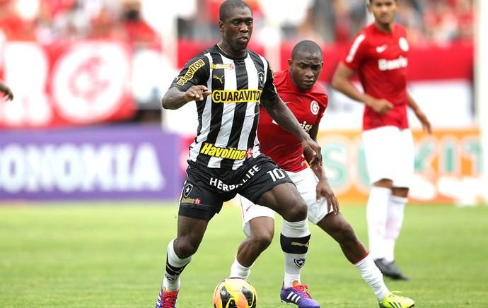 Seedorf Internacional e Botafogo (Foto: Nabor Goulart / Agência estado)