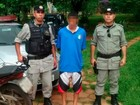 PM resgata menor refém de jovem que conheceu na web (Reprodução/TV Anhanguera)