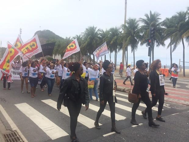 Rio teve marcha contra discriminação racial (Foto: Matheus Rodrigues/ G1)