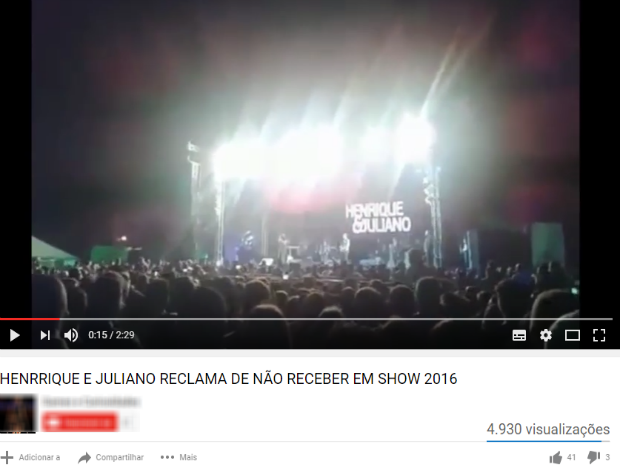 Henrique e Juliano em Arcos (Foto: Reprodução/Youtube)