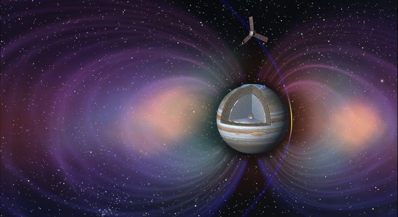 Juno manterá órbita elíptica em torno do planeta - tentando evitar danos provocados pelo seu campo magnético (Foto: Nasa/ Divulgação)