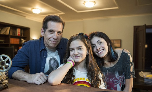 Leandro Hassum, Mael Maia e Pietra Hassum (Foto: Estevam Avellar/ TV Globo)