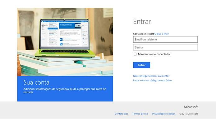 Usuário deve se conectar com e-mail e senha do computador com Windows 10 (Foto: Reprodução/Elson de Souza)