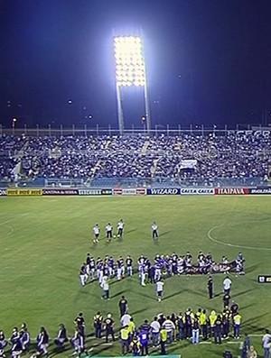 Boa Esporte e Ceará se enfrentam no Estádio Presidente Vargas, em Fortaleza (CE) (Foto: Reprodução Premierie FC)