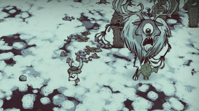 Um Deerclop é o chefe mais alto do jogo (Foto: Reprodução/Dont Starve Wikia)