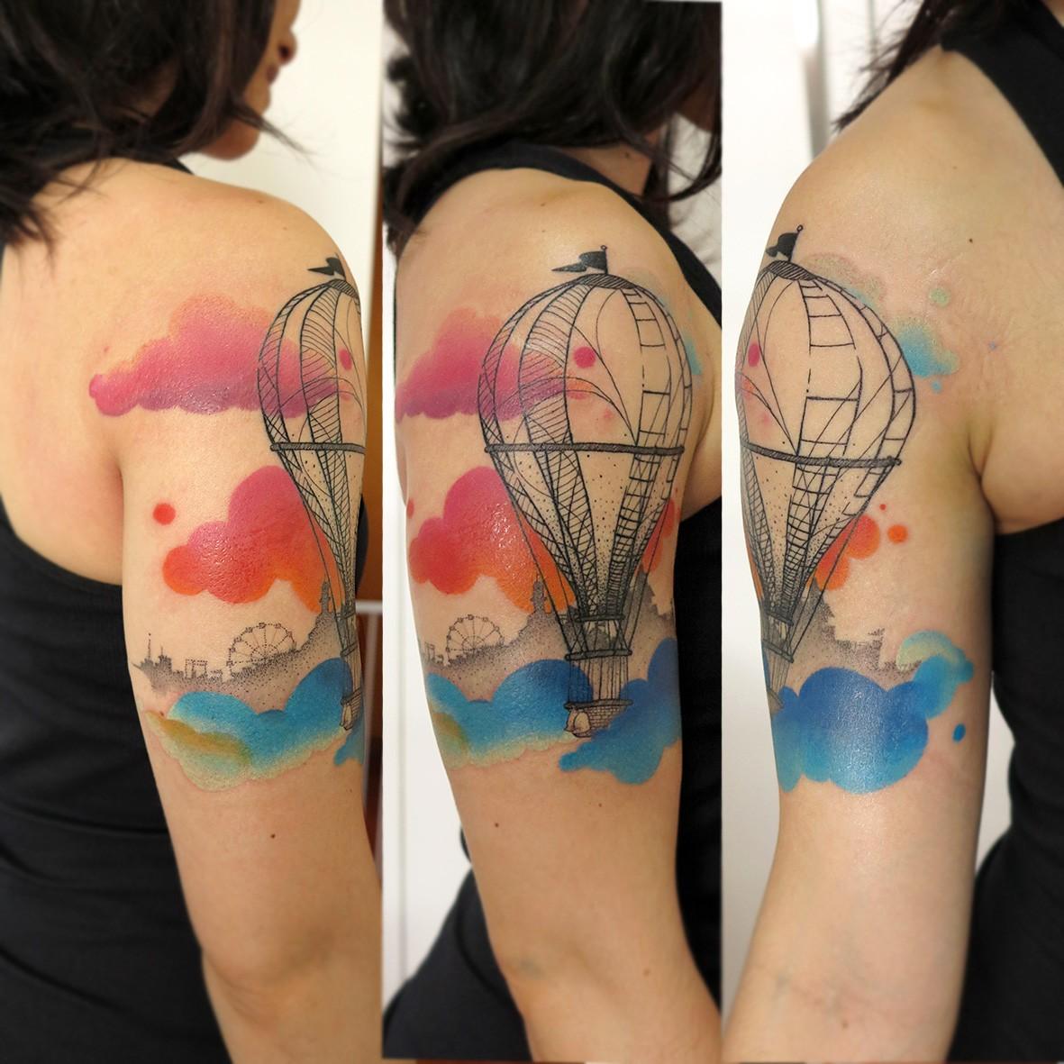 Tatuagem feita por Lan Pravda (Foto: Reprodução)