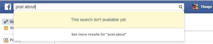 Busca direto no Facebook não funciona mais (Foto: Reprodução/Thiago Barros)