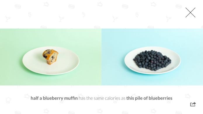 Aplicativo mostra comparativo entre alimentos (Foto: Reprodução/Helito Bijora)