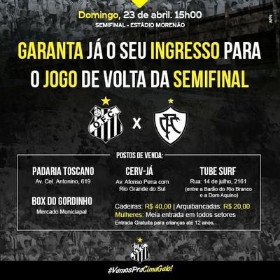 Ingressos à venda para Operário x Corumbaense (Foto: Reprodução)