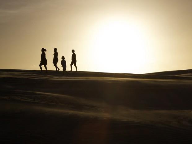 Foto de uma das dunas da Ilha de Lençóis, no Maranhão (Foto: Gabriel Castaldini/VC no G1)